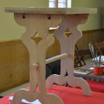 wooden trestle table by Uaithne MacFarlain