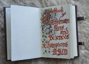 champions' book open to first page